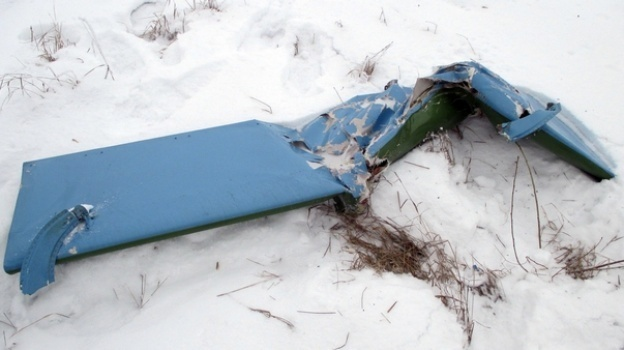 Фото детали обшивки самолета, упавшей в Боброве, Льва Владимирова