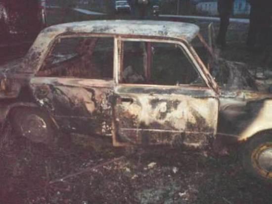 сгорела машина в Боброве