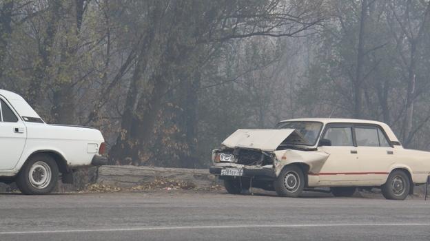 авария из-за пожара в Боброве
