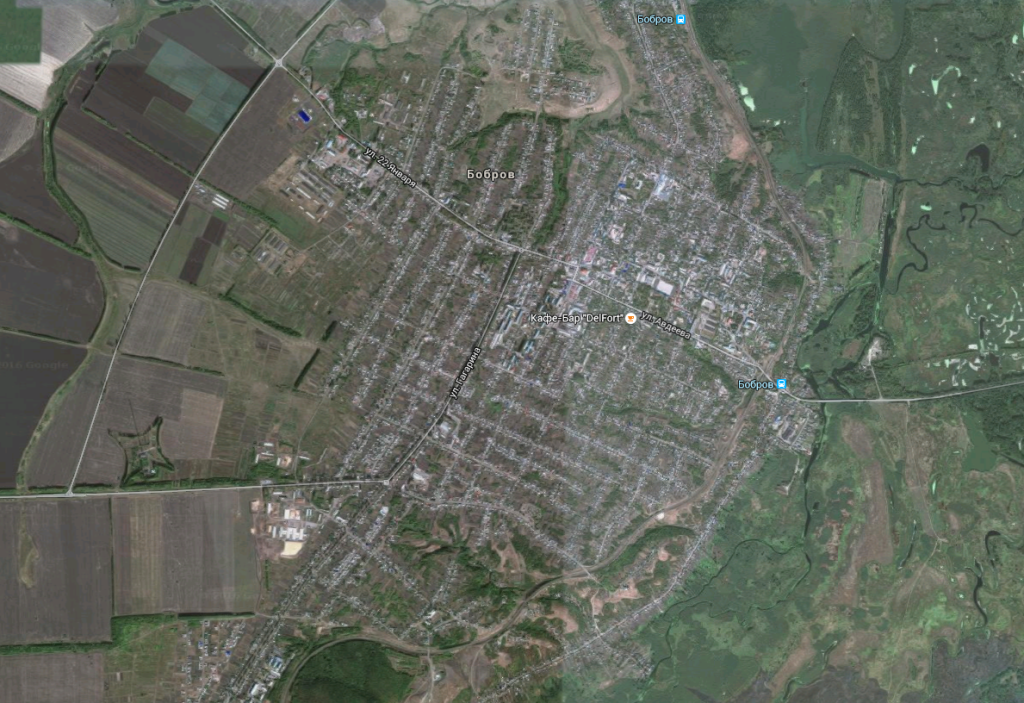 город бобров из космоса
